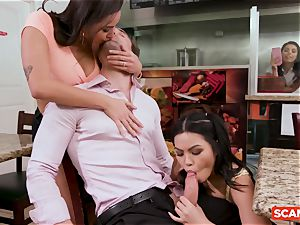 SCAM ANGELS - Karlee Grey and Gina Valentina gang bang-out