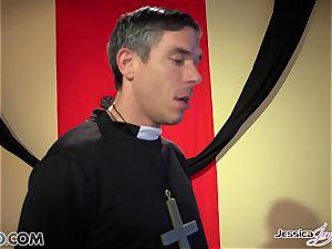 horny nuns Jessica Jaymes and Nikki Benz pleasing gods fantasies