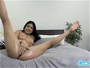 greased latina anally playthings