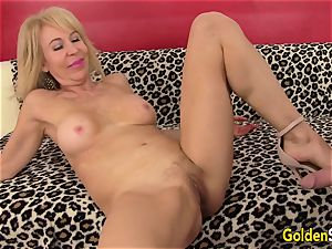 steamy grandmother Erica Lauren drills a giant fuck-stick