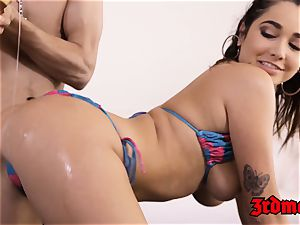 anxious babe Karlee Grey tastes super hot spunk